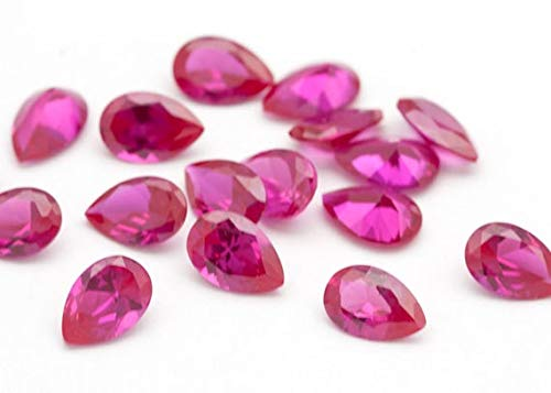 10 pieces 8x6mm Pink Tourmaline Faceted Pear Gemstone,AAA Quality Loose Gemstone Wholesale Lot For Sale