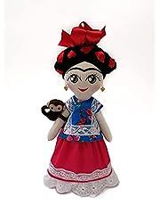 Frida muñeca de trapo, juguetes handmade by Arteté®dolls