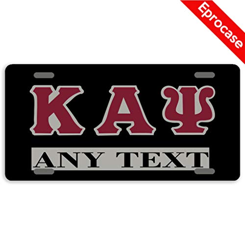 Eprocase Custom Personalized License Plate Kappa Alpha Psi License Plate Cover Decorative Car Tag Sign Metal Auto Tag Novelty Front License Plate 4 Holes (12