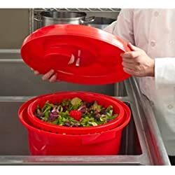 Chef-Master 90008 Professional Economy Salad Dryer, 5 gallon, Red
