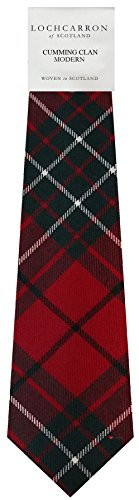Clan Tie Cumming Modern Tartan Pure Wool Scottish Handmade Necktie