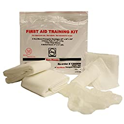 MCR Medical Supply 1200NW-010 Cotton/Plastic First Aid Training Kits (Pack of 10)