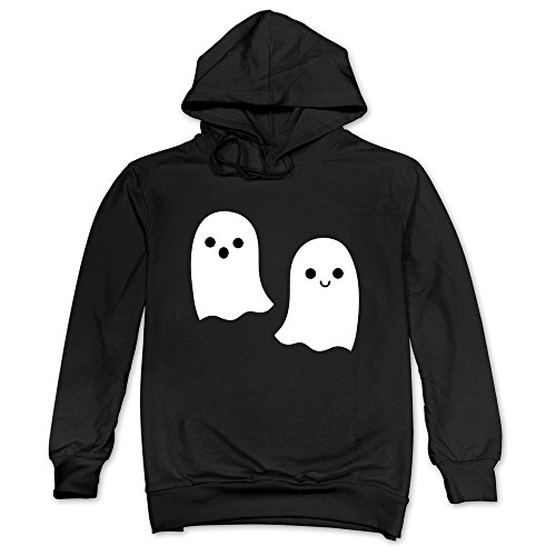 Mens Lovely Halloween Ghost Hoodies Black 100% Cotton -
