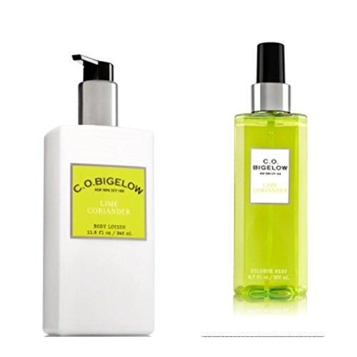 C.O. BIGELOW - Bath & Body Works GIFT SET- New scent collection of unisex Fragrance LIME CORIANDER ,11.6 FL oz. body lotion,6.7 oz.Mist (Bigelow Coriander)