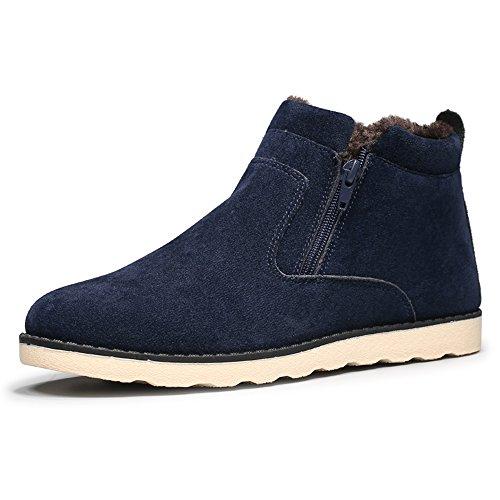 JACKSHIBO Herren Winter Wildleder Stiefeletten Mode Light Desert Boots  Kurzschaft Stiefel Blau 10b41ba2d6