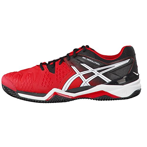 Asics Gel-resolution 6 Clay, Men Tennis Shoes Red (500)