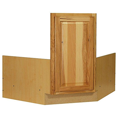 36x34.5x24 in. Hampton Corner Sink Base Cabinet in Natural Hickory ()