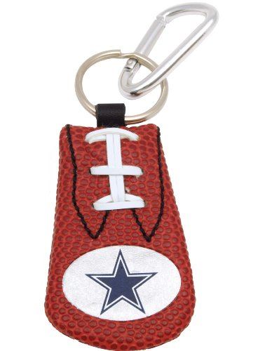 GameWear Dallas Cowboys Classic NFL Football Keychain - Leather Football Keychain Tag