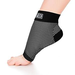 Go2 COMPRESSION SOCKS Gr8 Plantar Fasciitis Ankle Compression Sleeve Compression Foot Ankle Support Sleeve Plantar Fasciitis Sock Compression Ankle Socks That Provide Relief (Black, Medium)