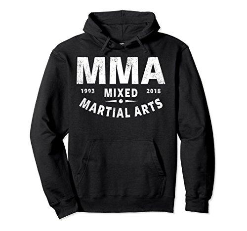 Unisex MMA HOODIE, MIXED MARTIAL ARTS HOODIE, MMA PULLOVER HOODIE Large Black