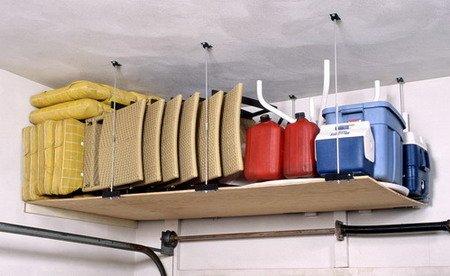 Ceiling Mounted Diy Adjustable Shelving Kit For Garage