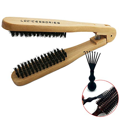 The Loc Brush for Dread Care: Double-Sided Natural