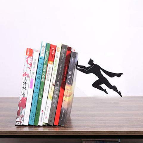 Creative DC Superman Batman Metal Desk Stands Bookend Holder Office School Supplies Stationery Gift Students Home Decoration Superman