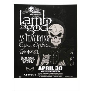 Lamb Of God - Posters - Limited Concert Promo