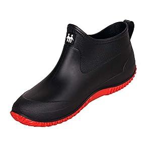 SMajong Chaussures de Pluie pour Hommes Femmes Chaussures de Jardinage Imperméable Bottines Caoutchouc Antiderapant…