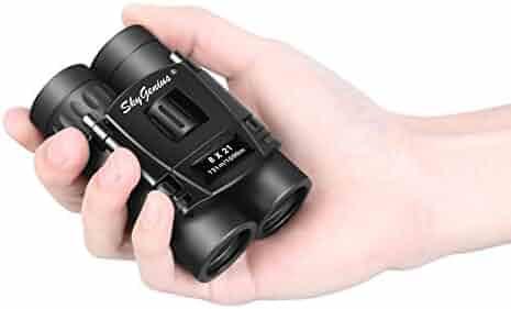 Skygenius 8x21 Small Compact Lightweight Binoculars For Concert Theater Opera .Mini Pocket Folding Binoculars w/ Fully Coated Lens For Travel Hiking Bird Watching Adults Kids(0.38lb)