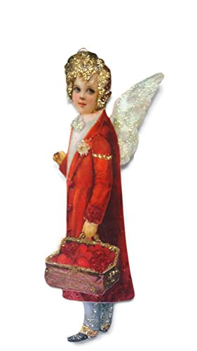Cupid Ornament - Valentine's Day Card Ornament Decoration Cupid Angel Love Victorian Handmade Gift