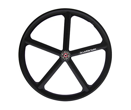 700C bike Magnesium Alloy wheel fixie Bicycle Mag TRI front wheel Mag Alloy Fixed gear bike wheels Rims (Rear (Aero Spoke)