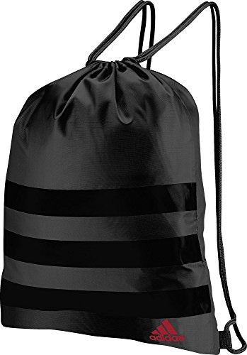 adidas 2018 Mens 3-Stripes Golf Draw String Tote Bag Dark Grey/Black One Size