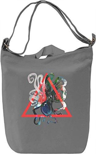 Octopus Borsa Giornaliera Canvas Canvas Day Bag| 100% Premium Cotton Canvas| DTG Printing|