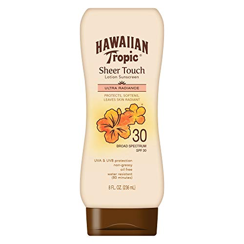 Hawaiian Tropic Sheer Touch, Lotion Sunscreen Ultra Radiance SPF 30, 8 oz