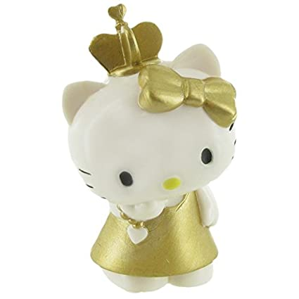 0e081eb21 Image Unavailable. Image not available for. Color: Hello Kitty Mini Figure  Hello Kitty Gold 6 cm Comansi figures
