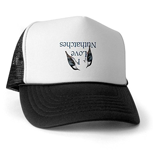 CafePress - I Love Nuthatches Trucker Hat - Trucker Hat, Classic Baseball Hat, Unique Trucker Cap Black/White