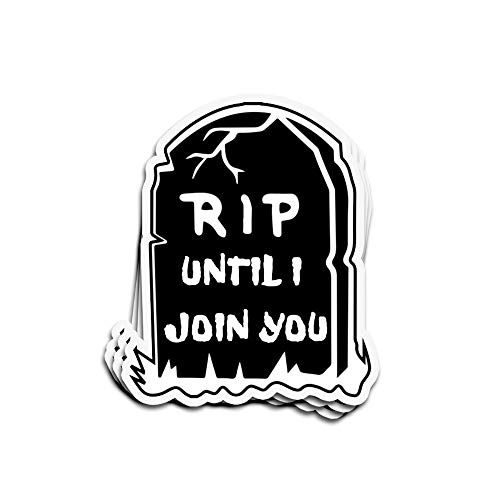 Jarky Love 3 PCs Stickers Funny Halloween Rip Saying 4 × 3 Inch Die-Cut Wall Decals for Laptop