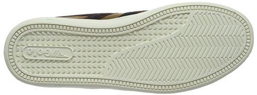Gola Herren Equipe Wildleder Fashion Sneaker Tabak / Dunkelbraun / Off-White