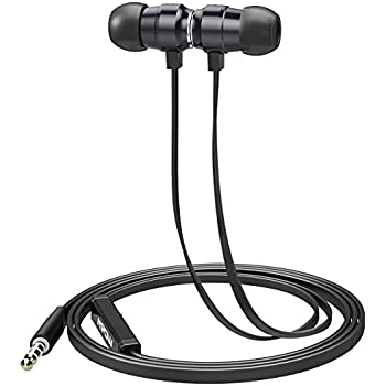 Mpow In-ear Headphones, Wired earphones with Magnetic Connection with Mic and Inline control for iPhone Android iPod iPad Tablet MP3/4