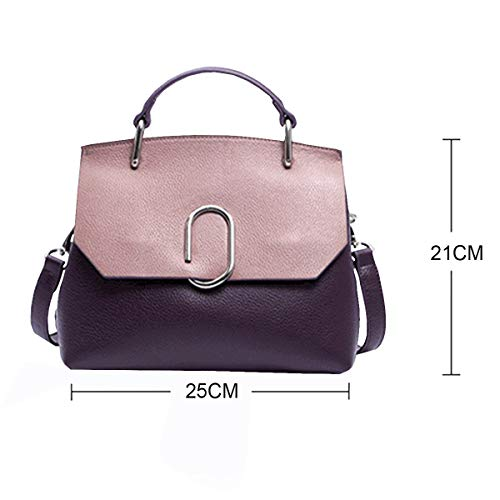 Mode à De Main Sac épaule Couleur Violet Main à En De Sac Diagonale Sauvage Sac Simple Rose Main 2018 à Cuir Vague Nouvelle Sac Sac YBxZwt7