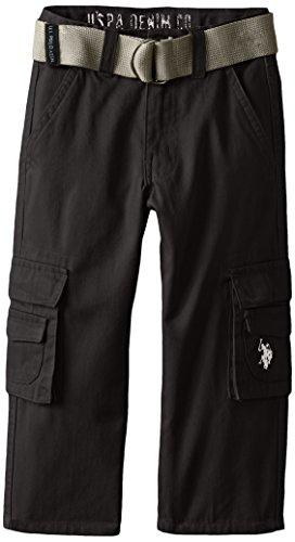 U.S. Polo Assn. Boys Cotton Fineline Twill Cargo Pant