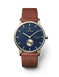 TRIWA Falken Men's Minimalist Dress Watch - Luxury Wrist Watches for Men, 38mm