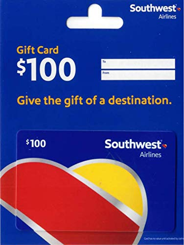 Southwest Airlines Gift Card $100 (Best Budget Travel Destinations)