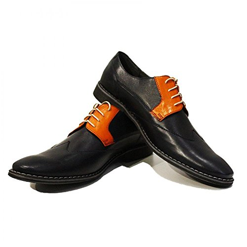 Modello Mattia - Handmade Colorful italiennes Chaussures en cuir Oxfords Casual Souliers de Formal Prime Unique Vintage Gift Lace Up Robe Hommes