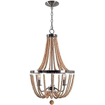 Amazon kenroy home regas 3 lt wood bead chandelier home kitchen kenroy home regas 3 lt wood bead chandelier aloadofball Image collections