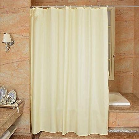WZS/CWY Hogar Dacron Hotel, Cuarto De Baño, Mampara De Cortina, La Prueba De Moho Bañera, Cortina De Ducha,Milord,200 X 240: Amazon.es: Hogar