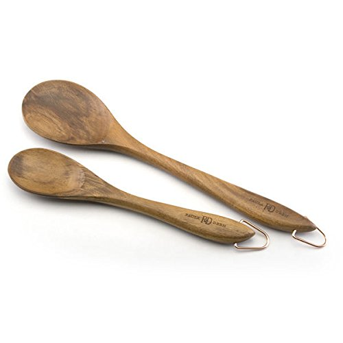 100 Percent Wood Made With Solid Spoon Set And Acacia Wood Construction