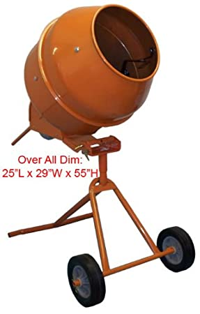 41GOI5Z2HpL._SY450_ amazon com 5 cubic feet tall portable cement concrete mixer home  at cos-gaming.co