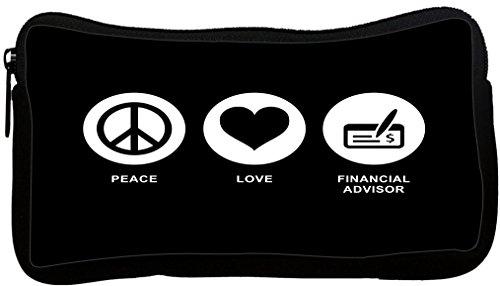 Rikki Knight Peace Love Financial Advisor Black Color Neoprene Pencil Case  Dky Neo Pc42320
