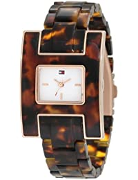 Womens 1781166 Fashion Tortoise H Inspired Logo Case Watch