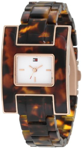 Tommy Hilfiger Women's 1781166 Fashion Tortoise H Inspired Logo Case Watch