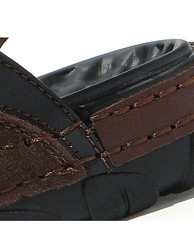 ShangYi Herren Sandaletten Herrenschuhe-Outddor / Lässig-Sandalen-Nappa Leather-Schwarz / Braun Black