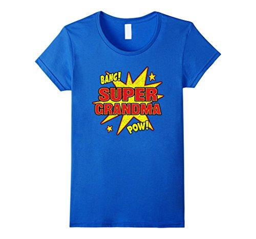 Womens Super Grandma Pow T-Shirt for Women - S to L