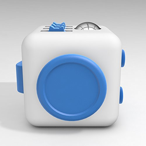 D-JOY Cube [Camo series] Fidget Toy Cube Relieves Stress and Anxiety Attention Toy for Work, Class, Home (White Blue) Photo #4