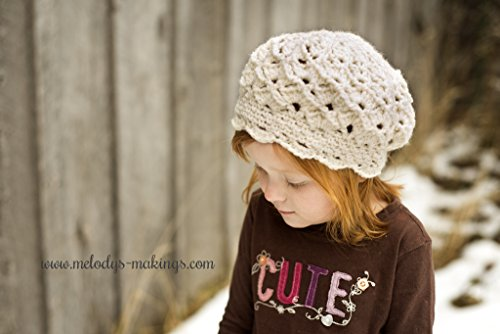 (Serenity Slouch Hat Crochet Pattern - Sizes Baby, Toddler, Child, and Adult Included)