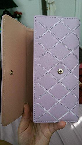 josep. H tragbar Frauen Mode Hand Tasche Krone Lange Geldbörse rosa rose violett oDFhlUkD