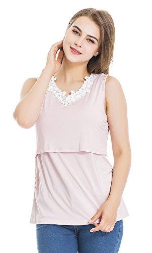 Modern Mummy Women's Floral Sleeveless Nursing Maternity Pregnant Breastfeeding...