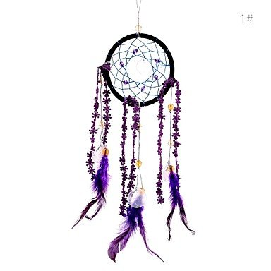 QINF Lureme? SweetLovely Crystal Shell Weave Flower Feather Dreamcatcher Wind Chimes (Weave Shell)