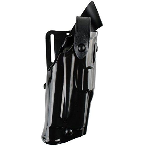 Safariland 6360 ALS/SLS Level-III Retention, Mid-Ride Duty Holster, Glock 17, 22, 31 w/ITI M3, STX Hi-Gloss Black, Right Hand ()